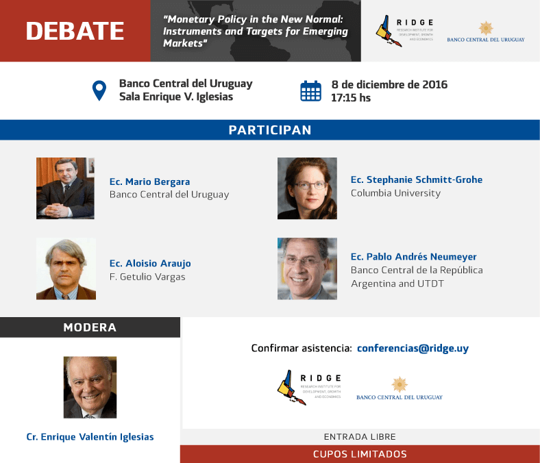 "DEBATE - ""Monetary Policy in the New Normal: Instruments and Targets for Emerging Markets"""